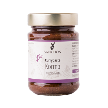 BIO Korma Curry Paste mild 190g